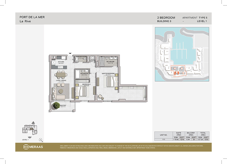 Port de la mer building 3 floor plan